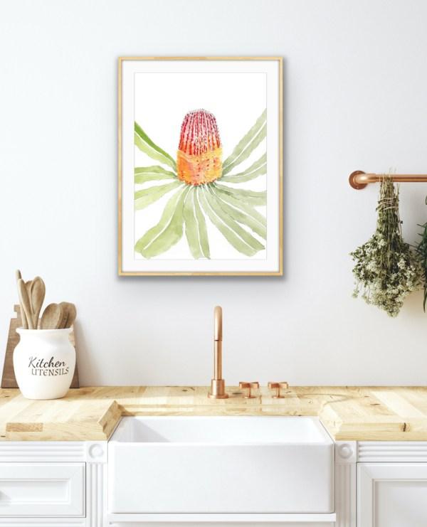The Banksia Menziesii Watercolour