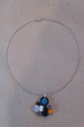 10_Quilling Halskette aus Altpapier