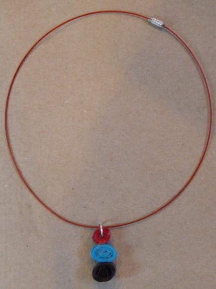 15_Quilling Halskette aus Altpapier