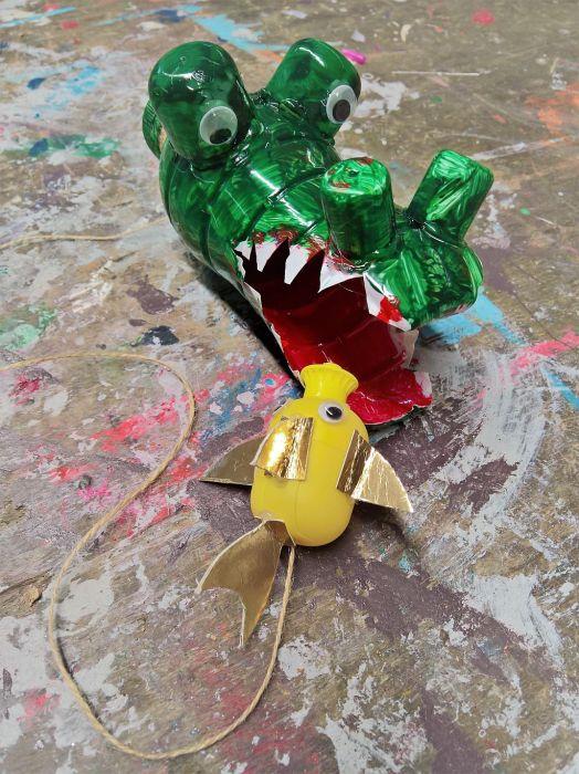 FRICKELclub_Recycling_Basteln_Kinder_Fangspiel_PET_Flasche (5)