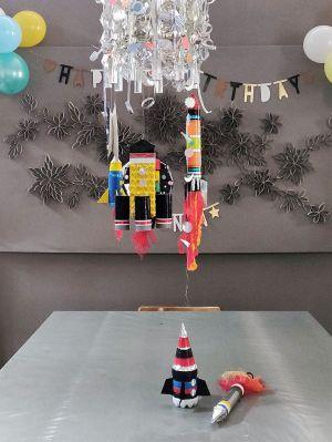 FRICKELclub_Recycling_Geburtstagsbasteln_Raketen_Kinder (22)