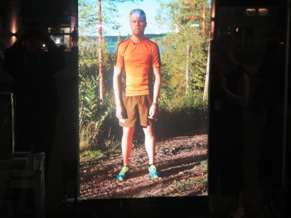 still from the installation of marathon runner