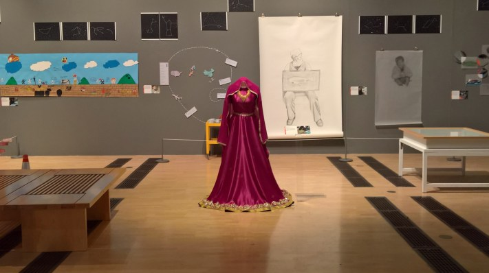 image of exhibition by young people at museum