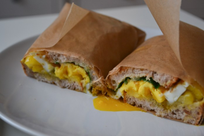 grilled egg sandwich