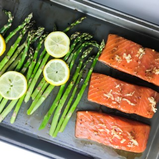 Sheet Pan Salmon + Asparagus - Fridge to Fork