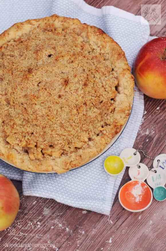 fried dandelions // vegan apple pie