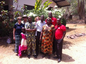 The group who went to Badape church. Thanks Chuck and Donna for going with us
