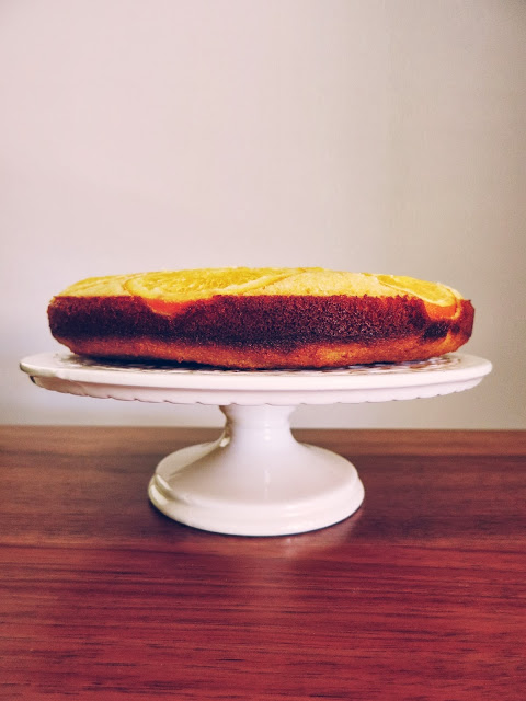 Upside-Down Orange Polenta Cake