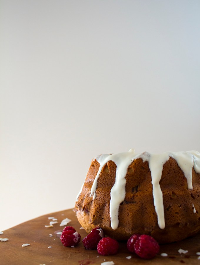 Raspberry Bundt Cake with Coconut Yoghurt
