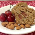 Cherry Almond Oat Bran Amish Friendship Bread Muffins
