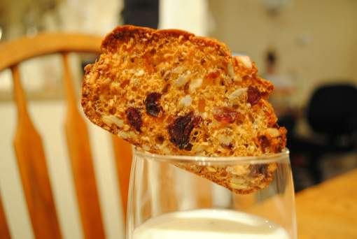 Amish Friendship Bread Cranberry Hazelnut Raincoast Crisps Recipe by Wai Chan ♥ friendshipbreadkitchen.com