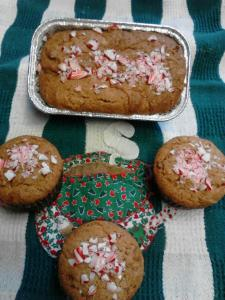 Gluten Free Dairy Free Candy Cane Amish Friendship Bread by Beverly Horner | friendshipbreadkitchen.com