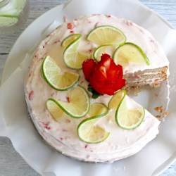 Strawberry Limeade Amish Friendship Bread Cake