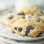 Blueberry Lemon Ricotta Amish Friendship Bread Scones