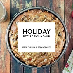 Christmas Holiday Amish Friendship Bread Recipe Roundup and Giveaway