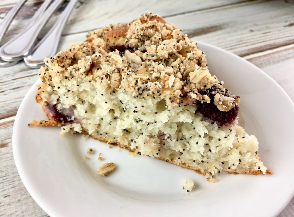 Cherry Poppy Seed Amish Friendship Bread Cake | friendshipbreadkitchen.com