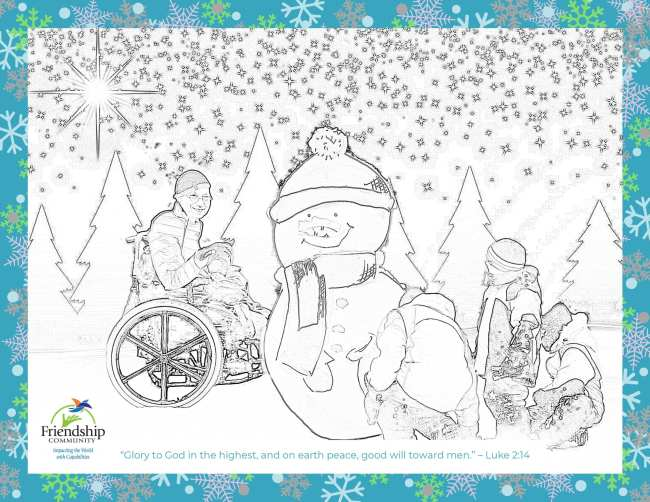 Journey of Friendship - Newsletter - Winter 2020 Coloring Page