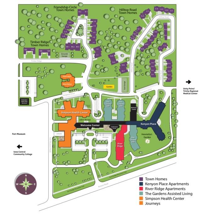 kenyon college campus map Campus Map Friendship Haven kenyon college campus map