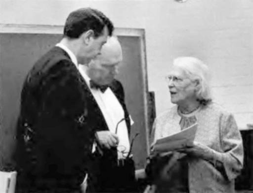 Charles Harker, Steve Angell, and Mary Cushing Niles, 1968.