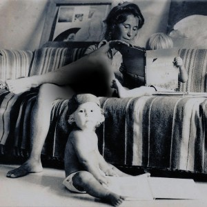 The author as a toddler in 1977, being read to by her mother in the house they rented in Key West, Fla.