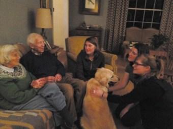 QVS volunteers visiting with elders in Atlanta.
