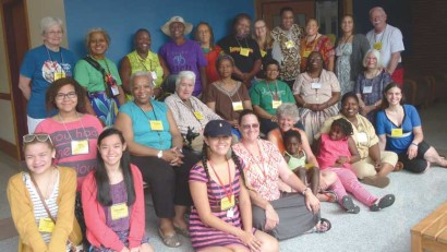 Participants in the 2014 FGC Pre-Gathering Retreat for Friends of Color and their families.