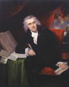 William Wilberforce by John Rising, 1790, pictured at the age of 29.