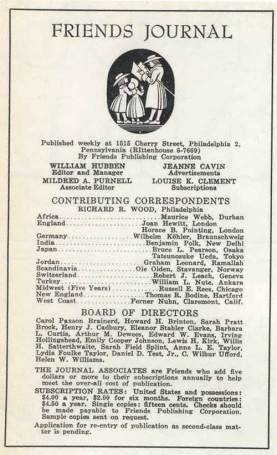 Masthead of the first issue.