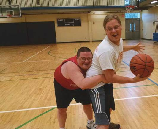 Patrick and Josey at the local YMCA.