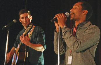 Sterling Duns (right) and Caselli Jordan perform as City Love.