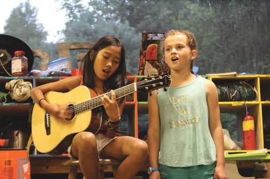 "Campers showcase their musical talents in the annual ""Sing-Em Up"" event."
