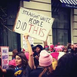 2017 Women's March. © Lucy Duncan