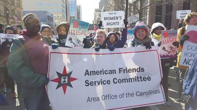 AFSC at an annual Undocumented and Unafraid march in North Carolina.