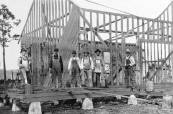 Construction of the meetinghouse.