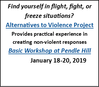 Find yourself in flight, fight, or freeze situations? Join AVP's basic workshop at Pendle Hill: https://pendlehill.org/events/alternatives-to-violence-project-basic-workshop/