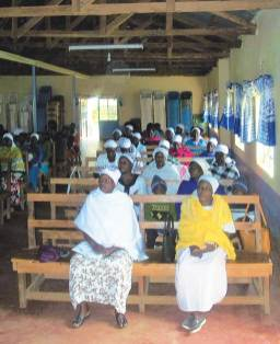 The women's side of the church.