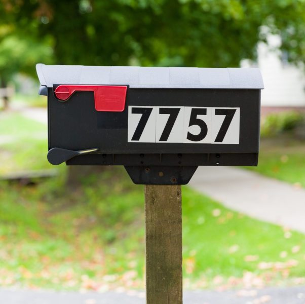mailbox with house numbers   Friends Life Care mailbox with house numbers