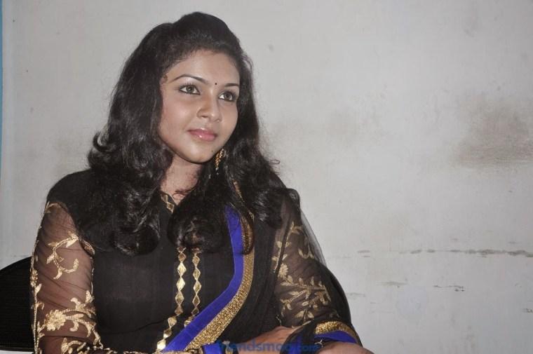 Saranya Nag Latest Photos in Salwar Kameez at Eera Veyil Movie Audio Launch