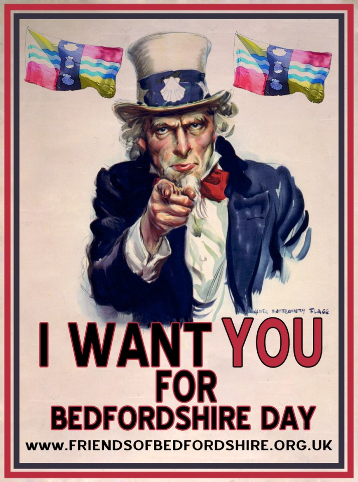 """Uncle Sam"" Bedfordshire day poster"