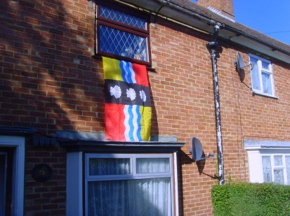 Bedfordshire flag flying