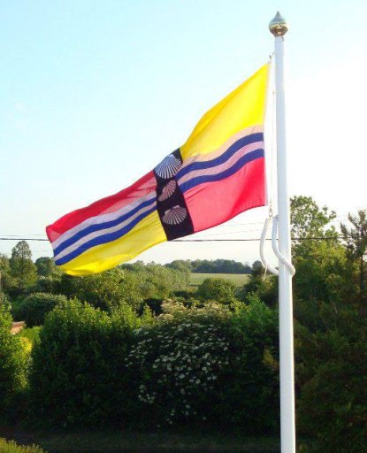 Bedfordshire Flag being flown by Richard Stay