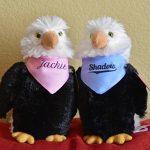 Jackie & Shadow Plush Eagles