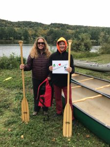 Two paddlers from canoe event