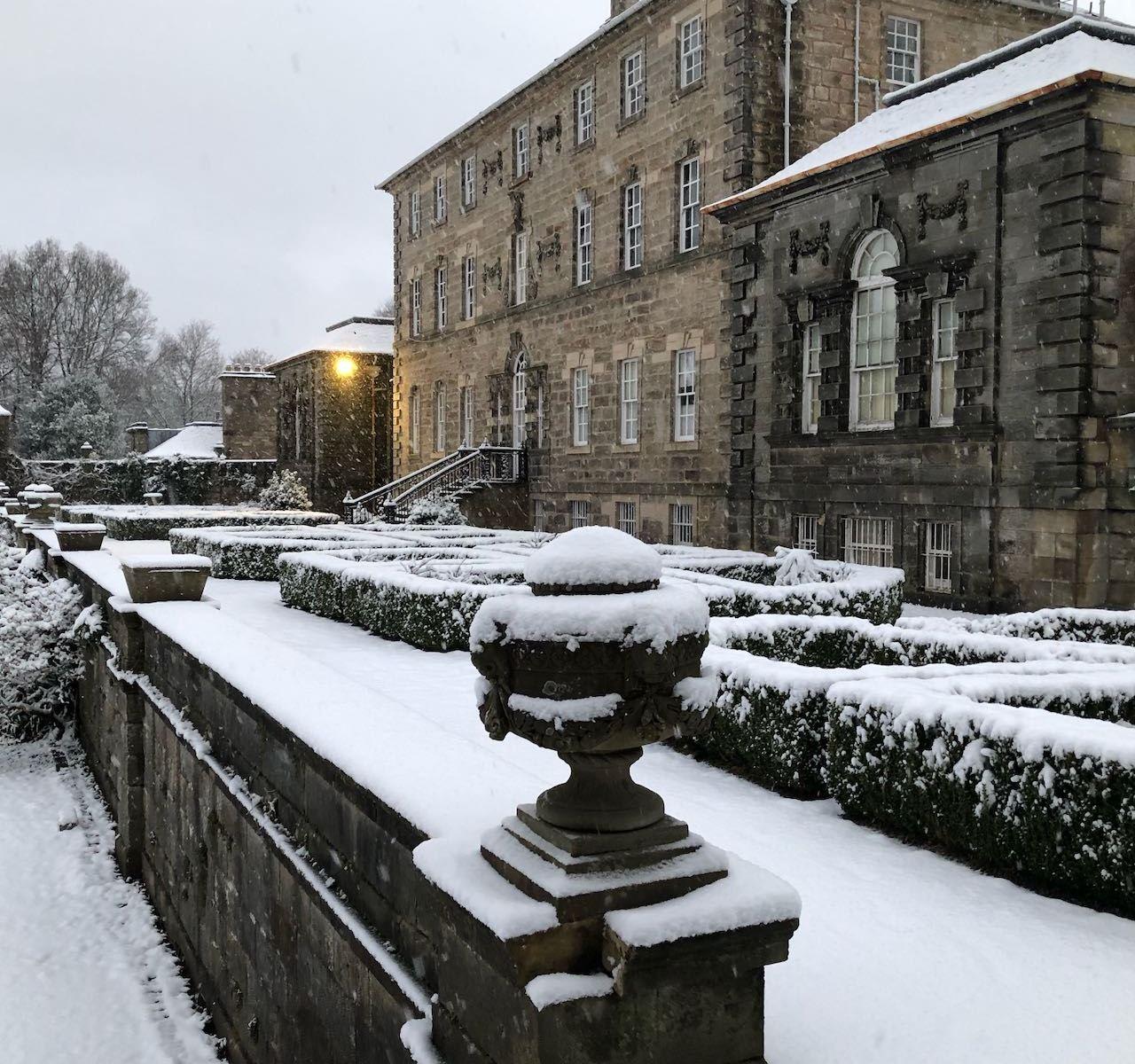 Pollok House in the Snow