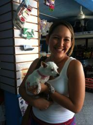 One of our wonderful foster moms in PV.