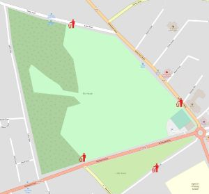 Map showing location of new bins