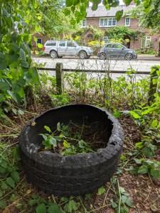 Dumped Tyre