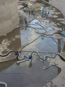 Waterliniemuseum binnenplaats met waterspel 3