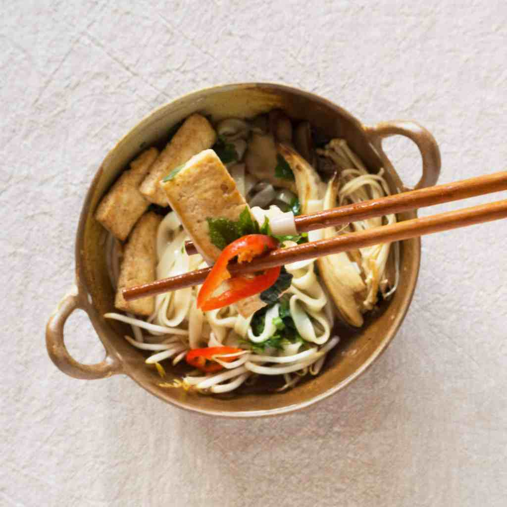 Delicious gluten-free, vegan pho. Onion-free, garlic-free. Vietnamese food.