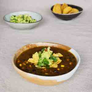 Mexican Black Bean Soup - ready to eat.